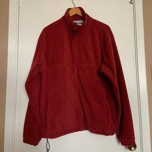 Columbia full zip fleece pullover size L
